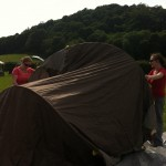 Pitching the tents
