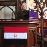 Nicola leading the service