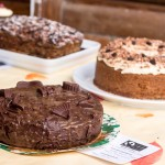 Chocolate cake, coffee cake and tea loaf