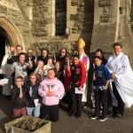 Confirmation candidates with Bishop Martyn
