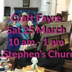 Craft Fayre – 25 March 2017