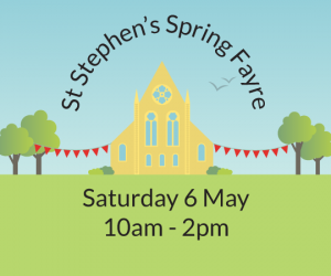Spring Fayre poster Saturday 6 May