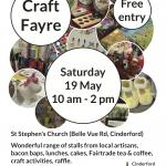 Craft Fayre – Sat 19 May